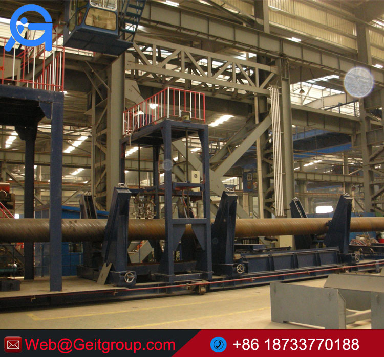 Helical Submerged Arc Welded Pipe (HSAW) mill line