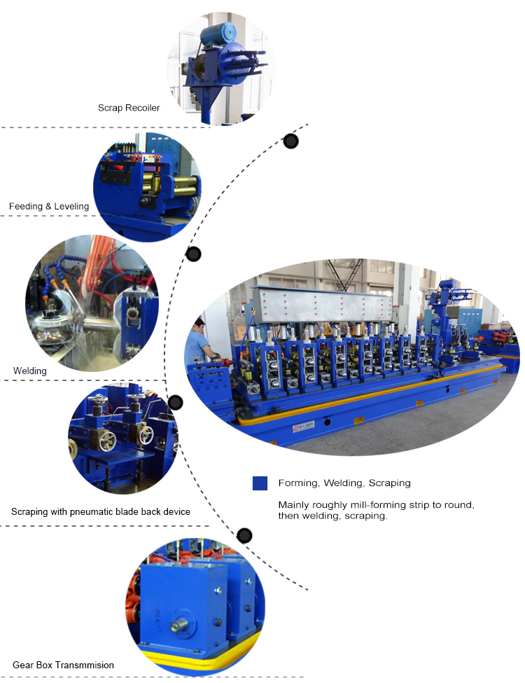 RT50 ERW Carbon Steel Tube Mill For Pipe Welding Machine