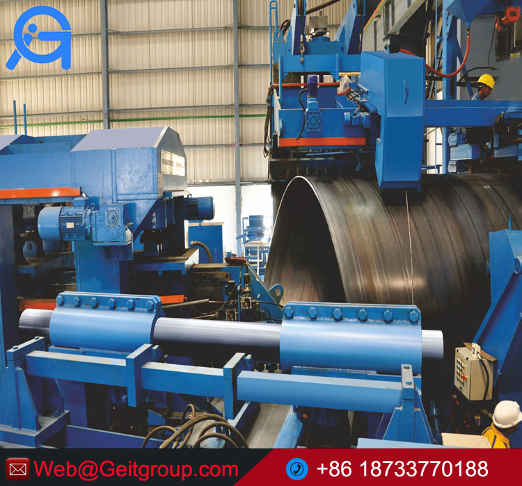 Big diameter of spiral Submerged Arc Welded SSAW pipe making machine factory